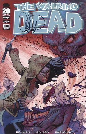 Walking Dead #100 DF Signed By Charlie Adlard 1st Ptg Regular Cover G Ryan Ottley