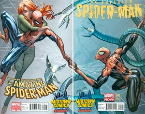 Amazing Spider-Man Vol 2 #700 And Superior Spider-Man #1 Midtown Exclusive J Scott Campbell Connecting Variant Covers Set