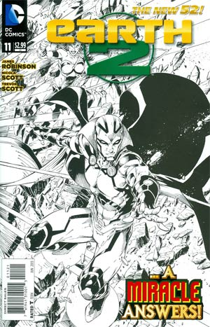 Earth 2 #11 Incentive Nicola Scott Sketch Cover