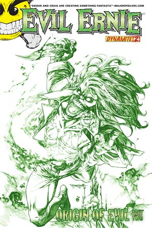 Evil Ernie Vol 3 #2 High-End Stephen Segovia Chaotic Green Ultra-Limited Cover (ONLY 10 COPIES IN EXISTENCE)