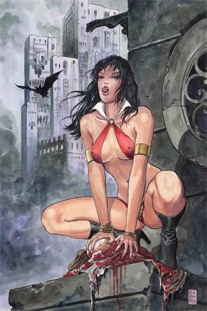Vampirella Strikes Vol 2 #1 High-End Milo Manara Virgin Art Ultra-Limited Cover (ONLY 69 COPIES IN EXISTENCE)