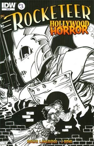 Rocketeer Hollywood Horror #3 Cover B Incentive Walter Simonson Sketch Cover