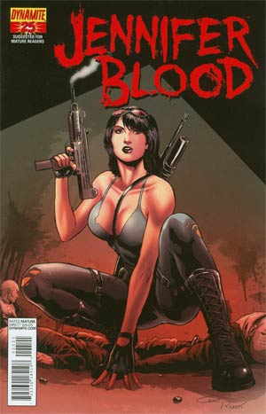 Garth Ennis Jennifer Blood #25 Incentive Super Sexy Leather & Lace Risque Variant Cover