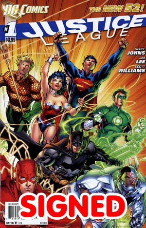 Justice League Vol 2 #1 DF Silver Signature Series Signed By Scott Williams