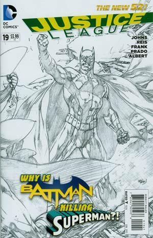 Justice League Vol 2 #19 Incentive Ivan Reis Sketch Cover