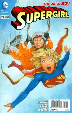 Supergirl Vol 6 #19 Incentive MAD Magazine Variant Cover