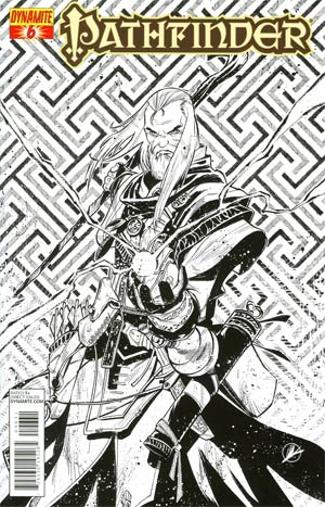 Pathfinder #6 Incentive Matteo Scalera Black & White Cover