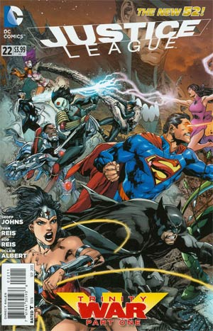 Justice League Vol 2 #22 Cover A 1st Ptg Regular Ivan Reis Cover (Trinity War Part 1)