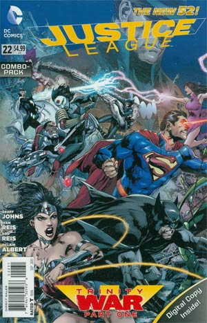 Justice League Vol 2 #22 Cover B Combo Pack With Polybag (Trinity War Part 1)