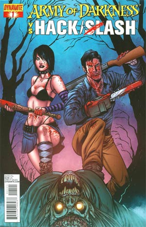 Army Of Darkness vs Hack Slash #1 Cover B Variant Tim Seeley Cover