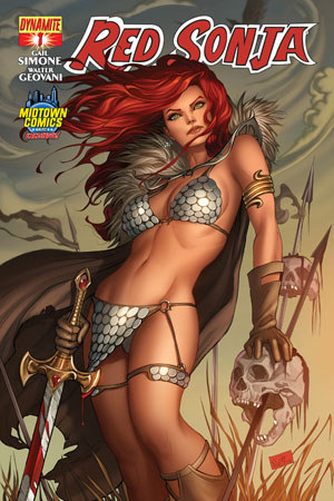 Red Sonja Vol 5 #1 Cover J Midtown Exclusive Nei Ruffino Color Variant Cover