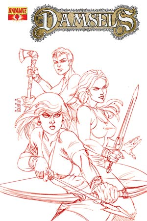 Damsels #4 High-End Joseph Michael Linsner Rose Red Ultra-Limited Cover (ONLY 25 COPIES IN EXISTENCE!)