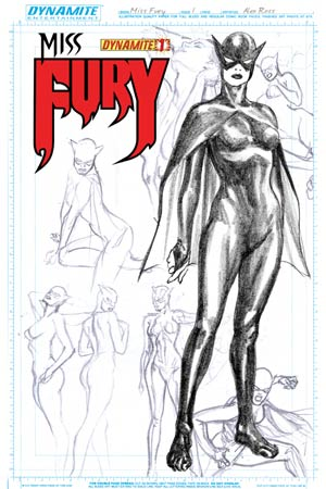 Miss Fury Vol 2 #1 Cover L High-End Alex Ross Concept Art Ultra-Limited Cover (ONLY 75 COPIES IN EXISTENCE!)