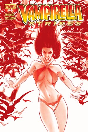 Vampirella Strikes Vol 2 #3 High-End Fabiano Neves Blood Red Ultra-Limited Cover (ONLY 100 COPIES IN EXISTENCE!)