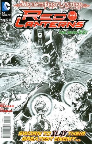 Red Lanterns #19 Cover B Incentive Miguel Sepulveda Sketch Cover (Wrath Of The First Lantern Tie-In)