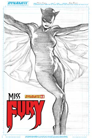 Miss Fury Vol 2 #1 Cover M High-End Alex Ross Character Sketch Ultra-Limited Cover (ONLY 75 COPIES IN EXISTENCE!)