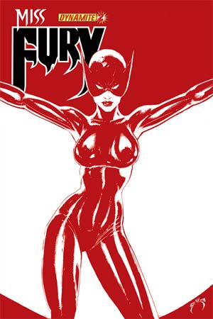 Miss Fury Vol 2 #2 Cover H High-End Joe Benitez Blood Red Ultra-Limited Cover (ONLY 75 COPIES IN EXISTENCE!)