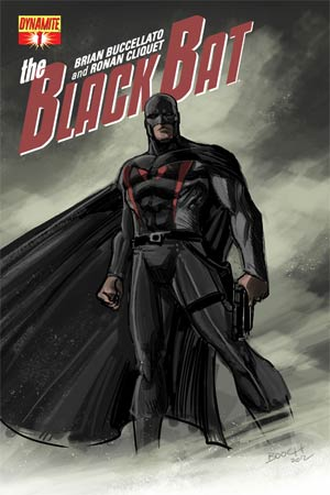 Black Bat #1 High-End Brian Buccellato Concept Art Ultra-Limited Cover (ONLY 25 COPIES IN EXISTENCE!)