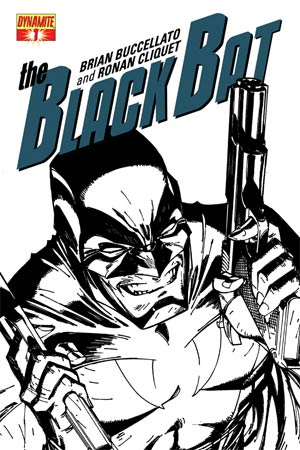 Black Bat #1 High-End J Scott Campbell Black & White Ultra-Limited Cover (ONLY 50 COPIES IN EXISTENCE!)