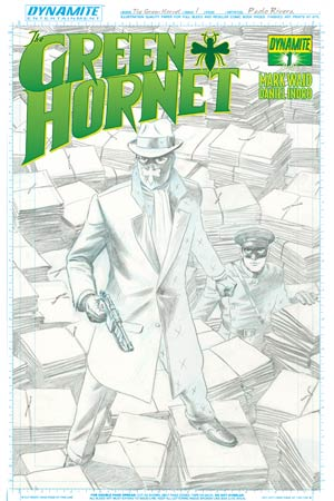 Mark Waids Green Hornet #1 High-End Paolo Rivera Artboard Ultra-Limited Cover (ONLY 50 COPIES IN EXISTENCE!)