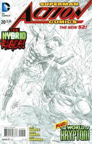 Action Comics Vol 2 #20 Incentive Tony S Daniel Sketch Cover
