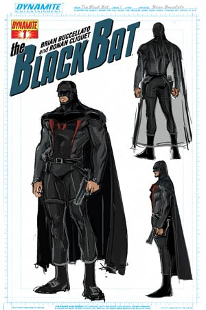 Black Bat #1 Incentive Brian Buccellato Design Variant Cover