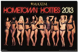 Maxim Wall Poster - Hometown Hotties 13