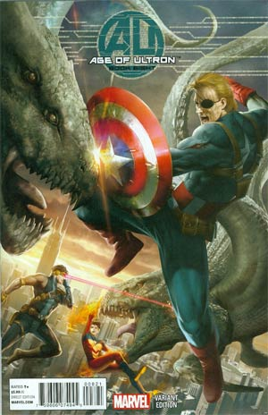 Age Of Ultron #8 Cover C Incentive 7th Orange Variant Cover