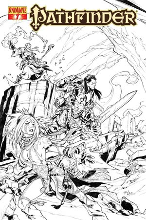 Pathfinder #7 Incentive Carlos Gomez Black & White Cover