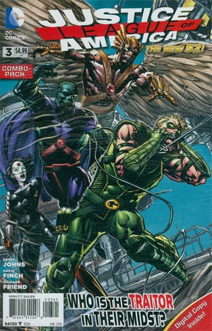 Justice League Of America Vol 3 #3 Combo Pack Without Polybag