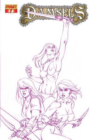 Damsels #7 High-End Joseph Michael Linsner Royal Purple Ultra-Limited Cover (ONLY 10 COPIES IN EXISTENCE!)