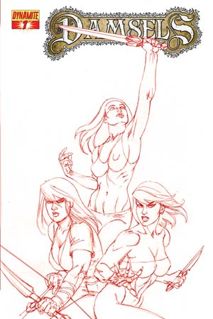 Damsels #7 High-End Joseph Michael Linsner Rose Red Ultra-Limited Cover (ONLY 25 COPIES IN EXISTENCE!)