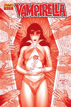Vampirella Vol 4 #26 High-End Paul Renaud Blood Red Ultra-Limited Cover (ONLY 50 COPIES IN EXISTENCE!)