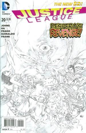 Justice League Vol 2 #20 Incentive Ivan Reis Sketch Cover (Trinity War Prelude)