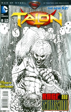 Talon #8 Cover B Incentive Guillem March Sketch Cover
