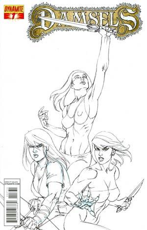 Damsels #7 Incentive Joseph Michael Linsner Black & White Cover