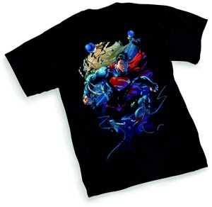 Superman Unchained By Jim Lee Women T-Shirt Large
