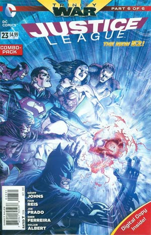 Justice League Vol 2 #23 Cover B Combo Pack With Polybag (Trinity War Part 6)