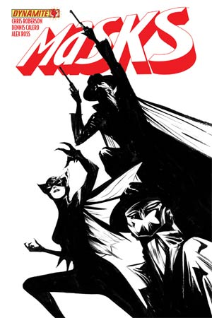 Masks #4 Cover J High-End Jae Lee Black & White Ultra-Limited Cover (ONLY 10 COPIES IN EXISTENCE!)