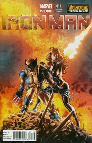 Iron Man Vol 5 #11 Cover B Incentive Wolverine Through The Ages Variant Cover