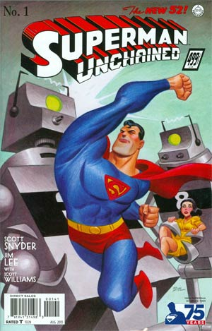 Superman Unchained #1 Cover E Incentive 75th Anniversary 1930s Variant Cover By Bruce Timm