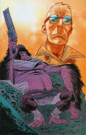 Six-Gun Gorilla #1 Cover B Incentive James Harren Virgin Variant Cover
