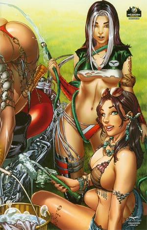 Grimm Fairy Tales Presents Unleashed #1 Cover D Wizard World Philly E-Bas Wraparound Variant Cover (Unleashed Part 1)
