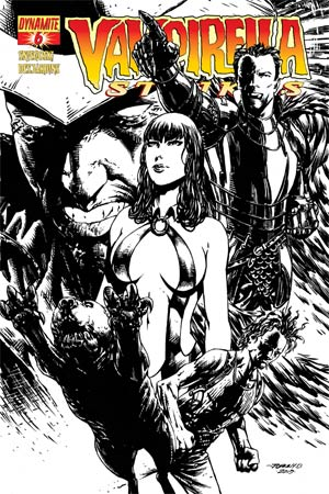 Vampirella Strikes Vol 2 #6 Cover G High-End Johnny D. Black & White Ultra-Limited Cover (ONLY 50 COPIES IN EXISTENCE!)