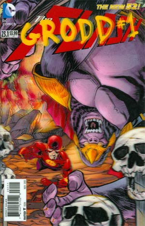 Flash Vol 4 #23.1 Grodd Cover A 1st Ptg 3D Motion Cover