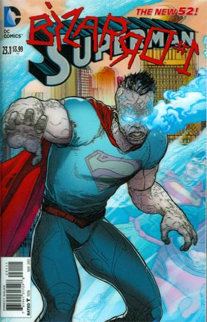 Superman Vol 4 #23.1 Bizarro Cover A 1st Ptg 3D Motion Cover