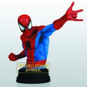 Spider-Man Red Blue Mini Bust By Gentle Giant