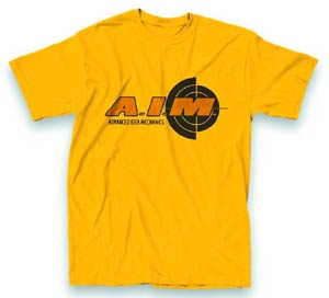 A.I.M. Logo Previews Exclusive Yellow T-Shirt Large