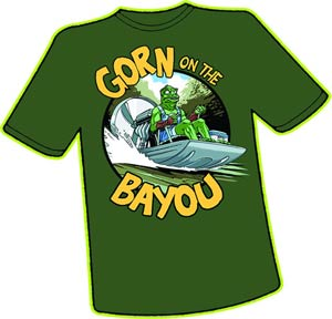 Gorn On The Bayou T-Shirt Large