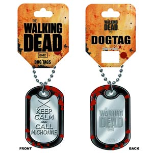 Walking Dead Dog Tag - Keep Calm And Call Michonne